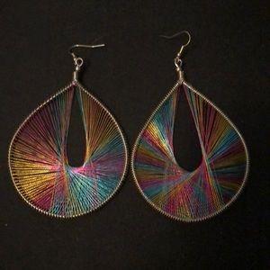 Beautiful rainbow tear drop earrings
